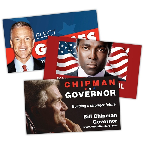 Political Business Card Magnet - 3.5x2 (Square Corners) - 20