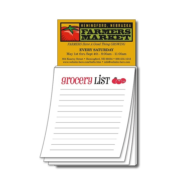 Magna-Pad Business Card Magnet - Stock Grocery List (50 Shee