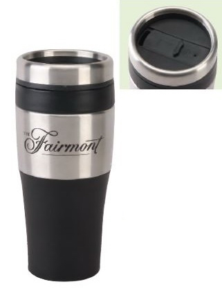 16 oz. Black Tumbler with Plastic Liner