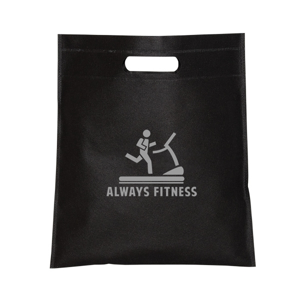 Small Non-Woven Cut-Out Handle Tote