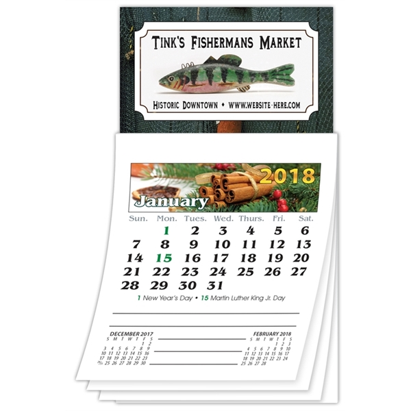 Magna-Cal Business Card Magnet Calendar - Jan 2016