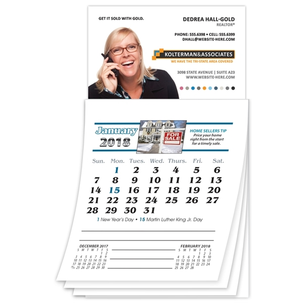 Magna-Cal Business Card Magnet R.E. Calendar - Jan 2016