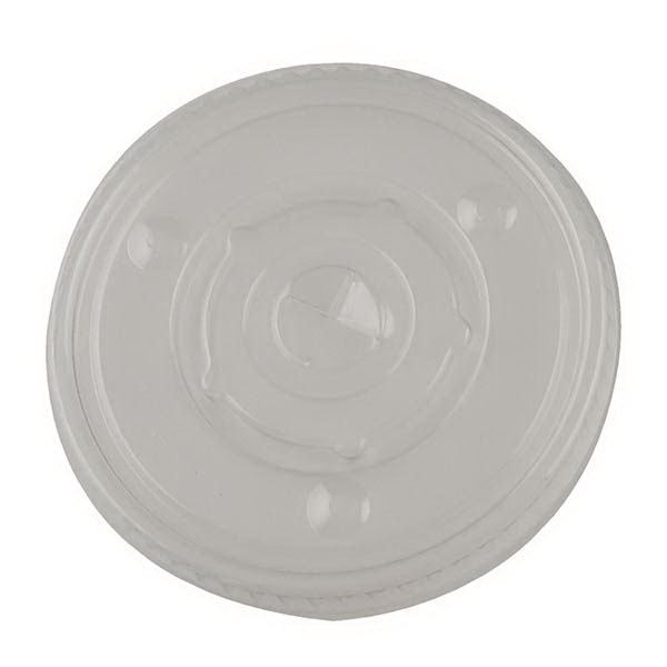 Straw Slotted Lid for 12-24 oz. White Economy Cups