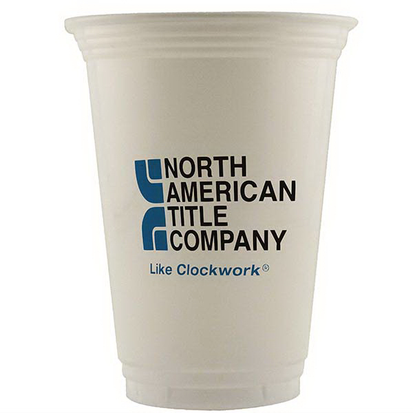 High Lines 16 oz. Economy White Plastic Cup