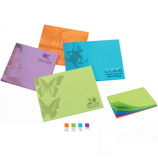 "3"" x 3"" Colored Paper Adhesive Notepads"