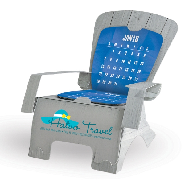 Beach Chair Die-Cut Desk Calendar