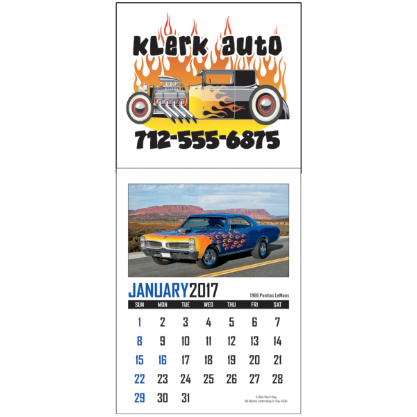 Square Full Color Stick Up Calendar