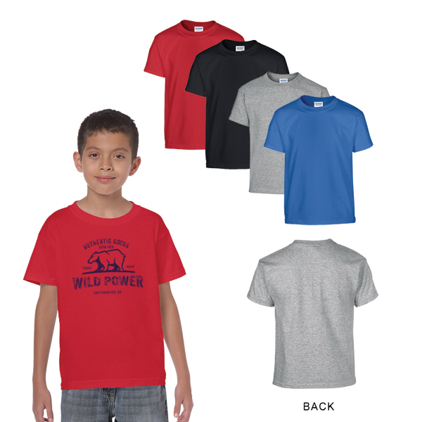 Gildan Heavy Cotton Classic Fit Youth T-Shirt 5.3 oz Colors