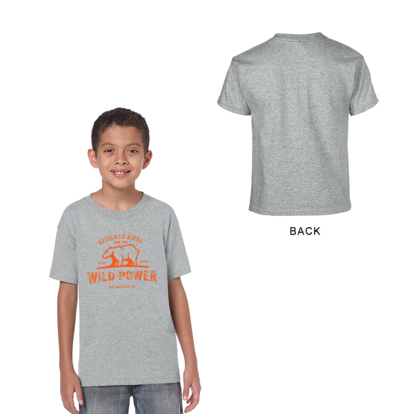 Gildan Heavy Cotton Classic Fit Youth T-Shirt 5.3 oz Gray
