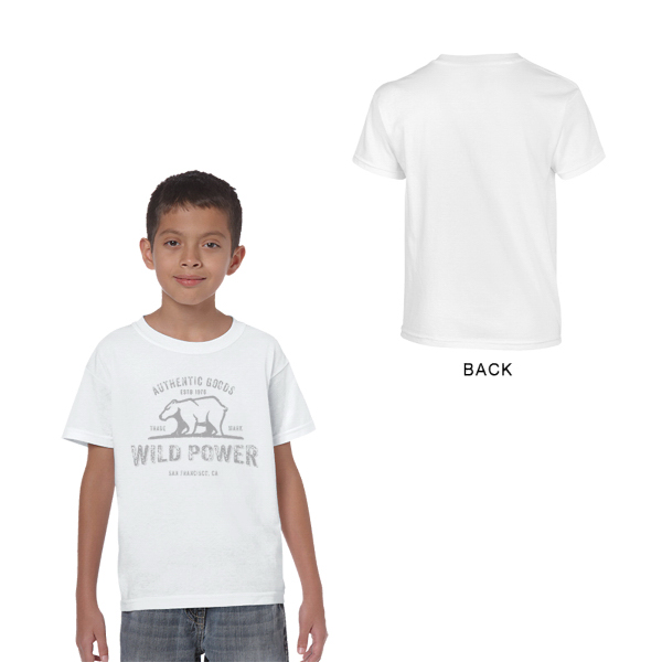 Gildan Heavy Cotton Classic Fit Youth T-Shirt 5.3 oz White