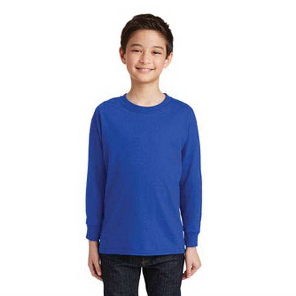 Gildan Youth Heavy Cotton 100% Cotton Long Sleeve T-Shirt.