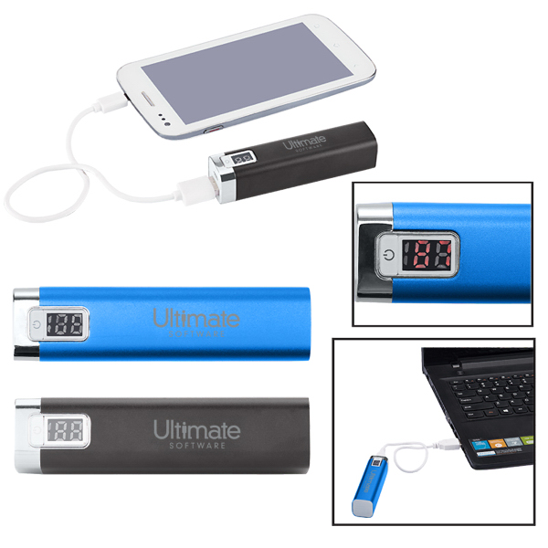 Portable Metal Power Bank Charger with LED Display