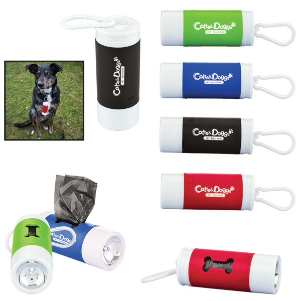 Pet Waste Bag Dispenser w/ Flashlight