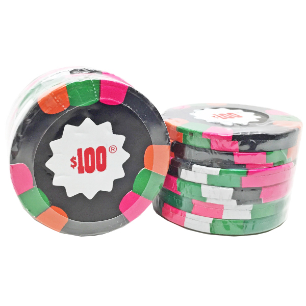 Chocolate Casino Poker Chips Candy Stack of 6