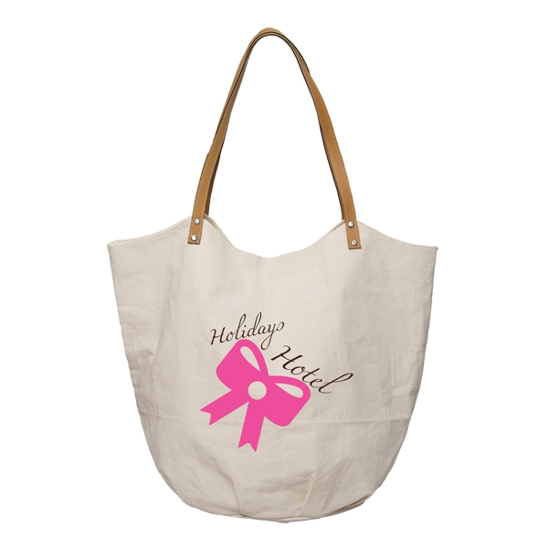 TREE LINE COTTON TOTE WITH VINYL HANDLES