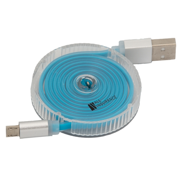 SYNC SPRINGER RETRACTABLE USB DATA CABLE