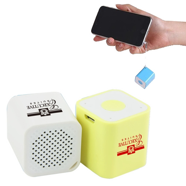 Portable Mini-Bluetooth Speaker with Built-In Selfie Snapper