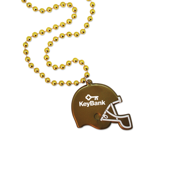 Football Helmet Medallion Beads