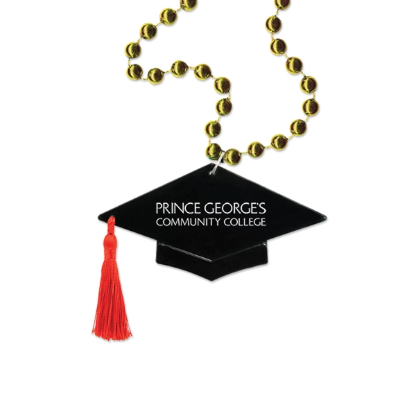 Graduation Cap Medallion Beads