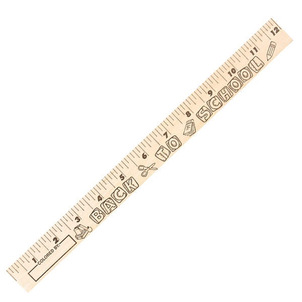Back to School U Color Rulers - Natural Wood Finish