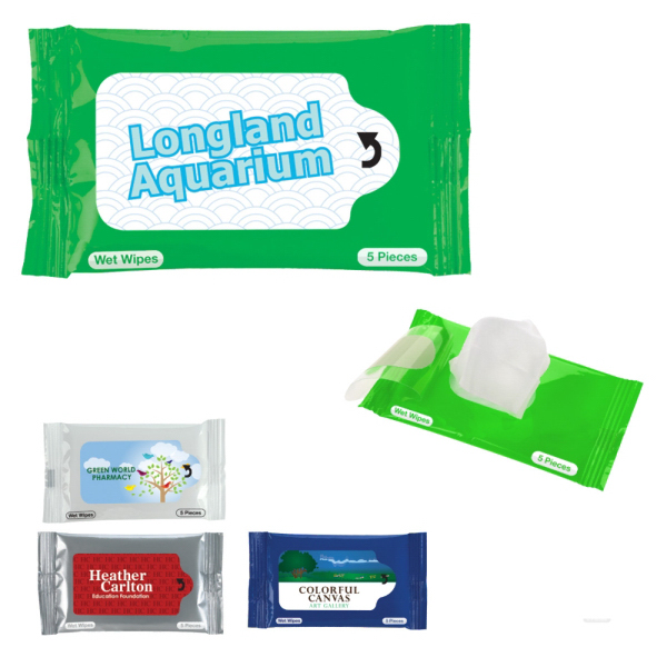 Wet Wipes 5-Packet Towelettes
