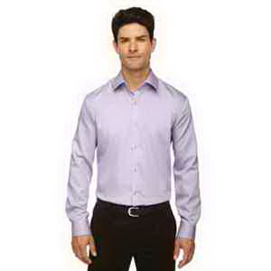 Boulevard Wrinkle-Free Two-Ply 80's Cotton Dobby Taped Shirt