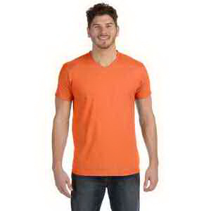 4.5 oz., 100% Ringspun Cotton nano-T (R) V-Neck T-Shirt