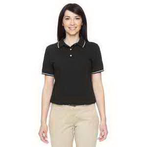 Harriton Ladies' 5.6 oz. Tipped Easy Blend (TM) Polo