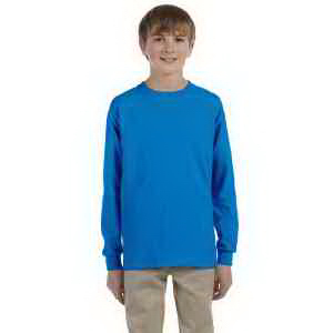 Ultra Cotton (R) Youth 6 oz. Long-Sleeve T-Shirt