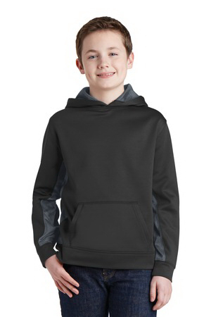 Youth Sport-Wick CamoHex Colorblock Hooded Pullover