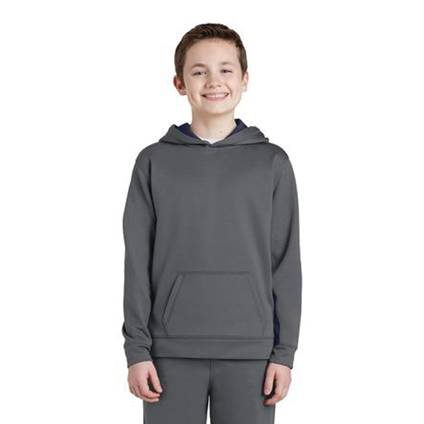 Youth Sport-Wick (R) Colorblock Hooded Pullover