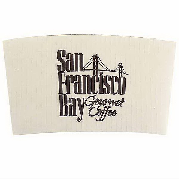 White Insulated Coffee Clutch High Lines