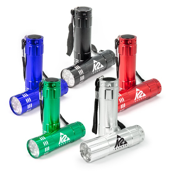 9 LED Flashlight with Strap