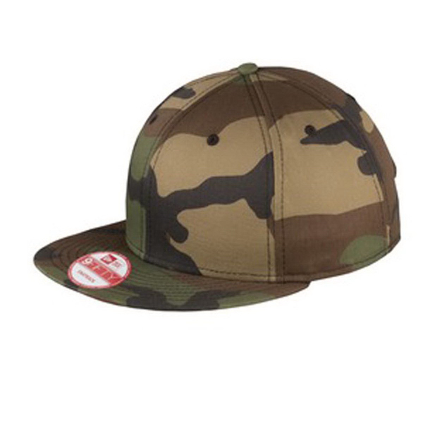 New Era(R) Flat Bill Snapback Camo Cap