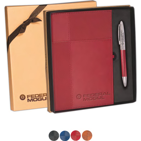 Tuscany (TM) Duo-Textured Journal & Pen Gift Set