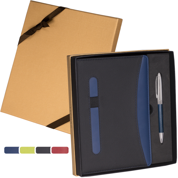 Naples (TM) Two-Tone Journal & Pen Gift Set