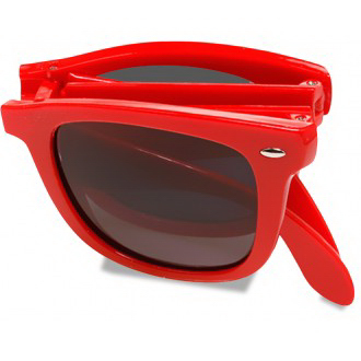 Foldable Retro Sunglasses w/ Side Imprint