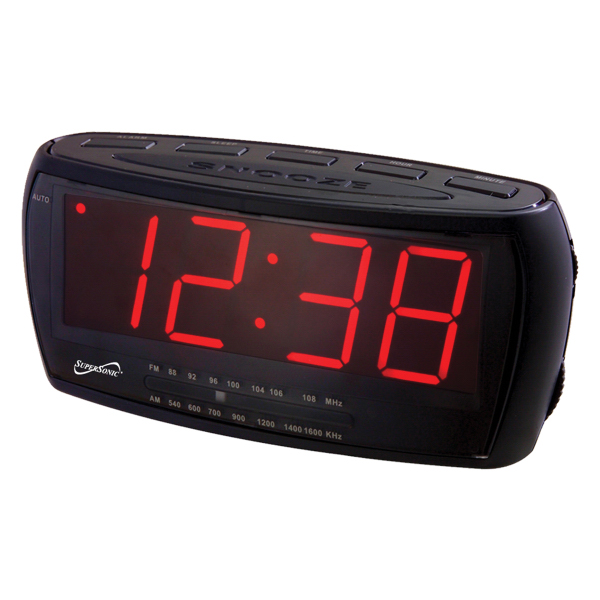 Jumbo Display Alarm Clock w/ AM/FM Radio & AUX Input