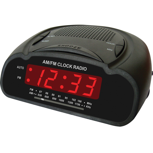 Digital Alarm Clock w/ AM/FM Radio