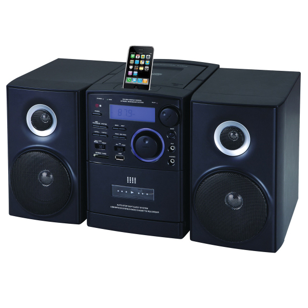 Portable Audio System with MP3/CD Player w/ Docking Station