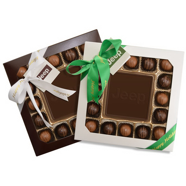 Custom Chocolate with 16 Truffles Gift Box
