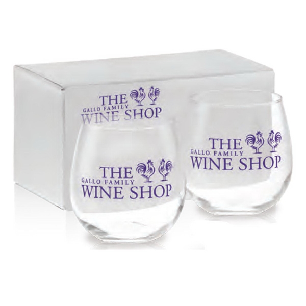Stemless Red Wine Gift Set