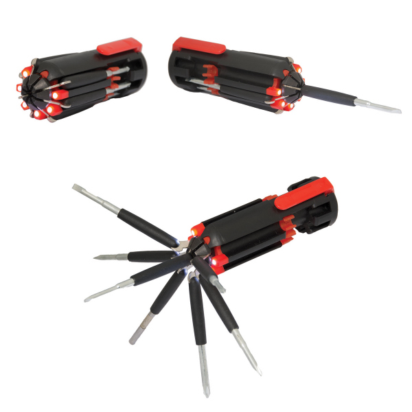 Turner Might 8-in-1 Screwdriver Set with LED Light