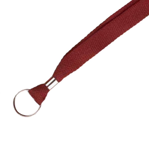"3/8"" Plain Lanyard with Split Ring"