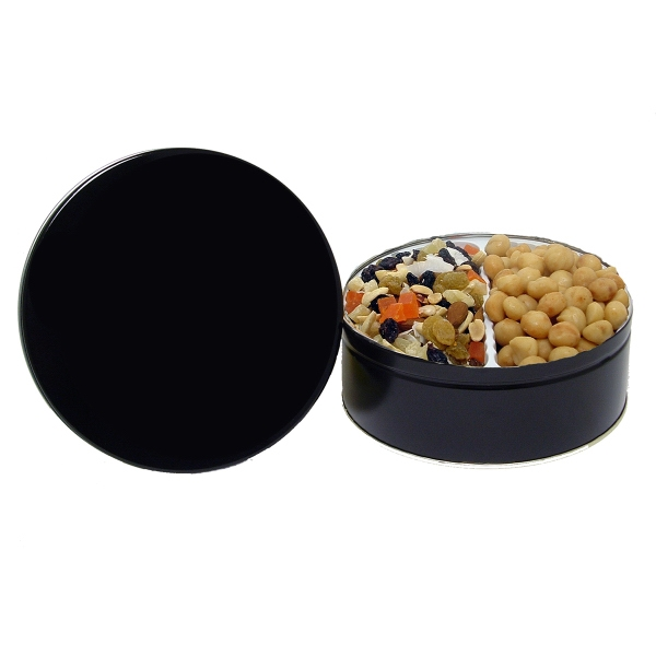 30 oz.Macadamia Nuts and Tropical Fruit & Nut Mix-Custom Tin