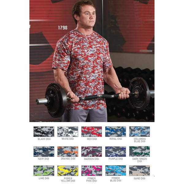 Adult Digi Camo Wicking T-Shirt