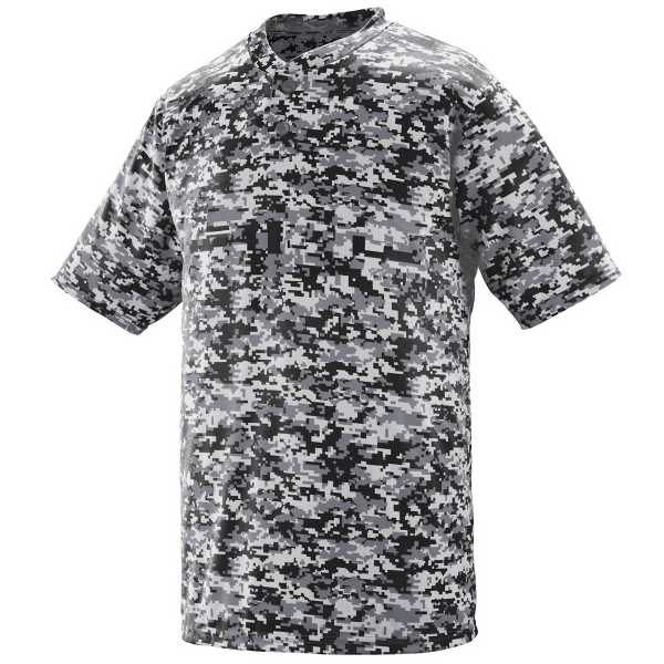Adult Digi Camo Wicking Two-Button Jersey