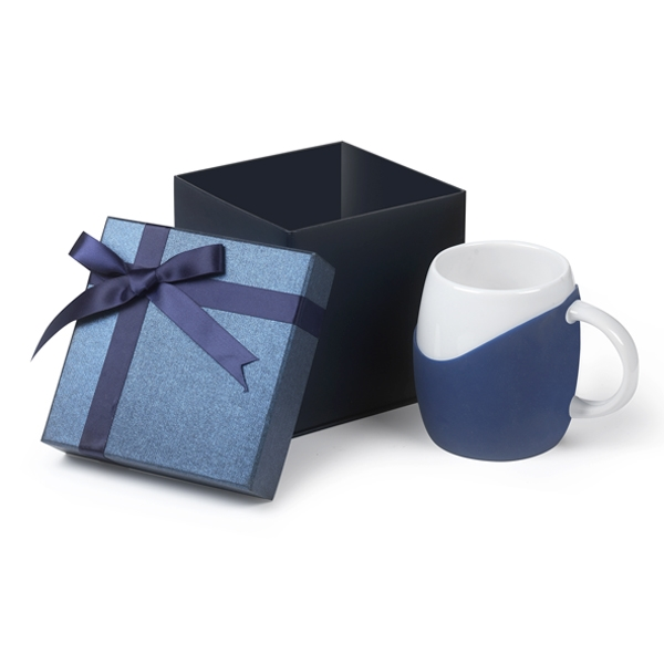 14 oz Rotunda Ceramic Mug With Silicone Grip Gift Set