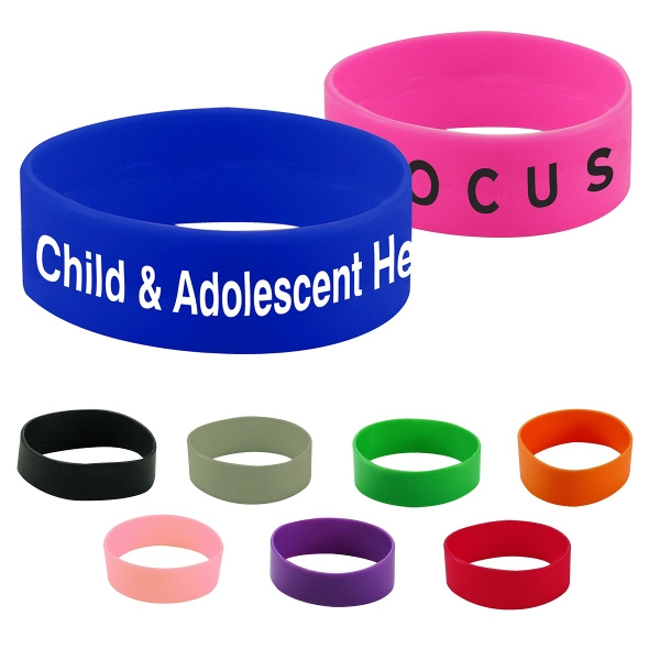 "Silicone Wristband - 1"" Printed"