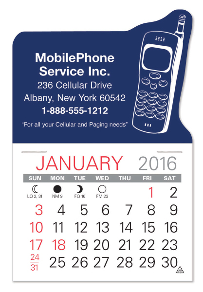 Cellphone Shaped Value Stick Calendar